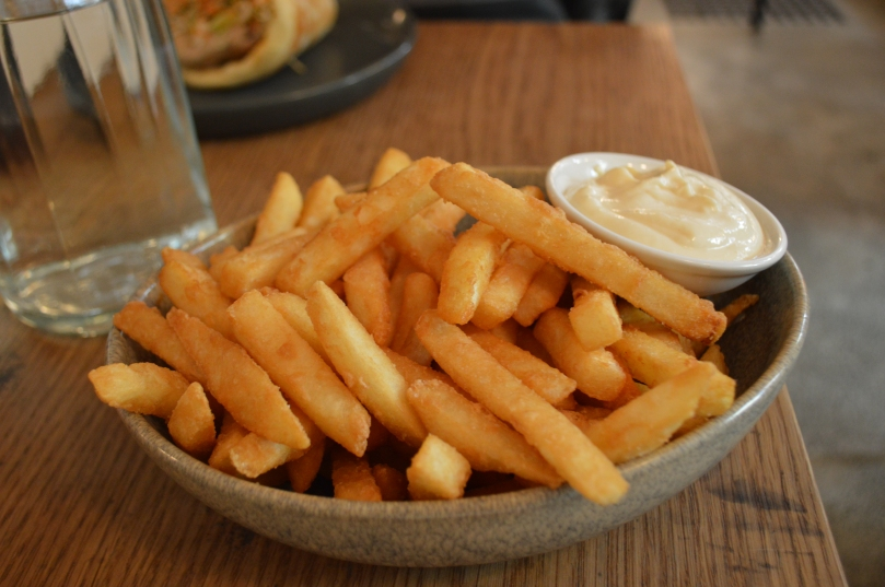Beer Battered Chips with Garlic Aioli ($7.00)