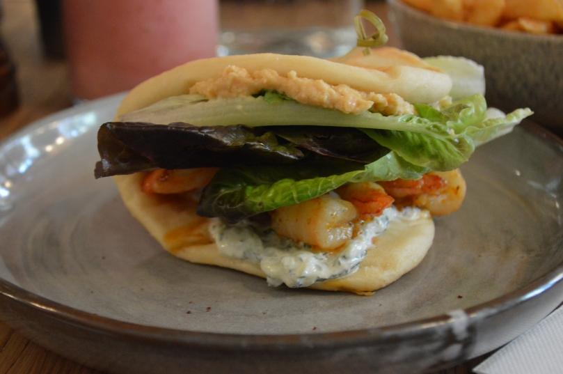 Grilled Prawns, Tzatziki, Hummus and Sumac Narnie ($15.00)