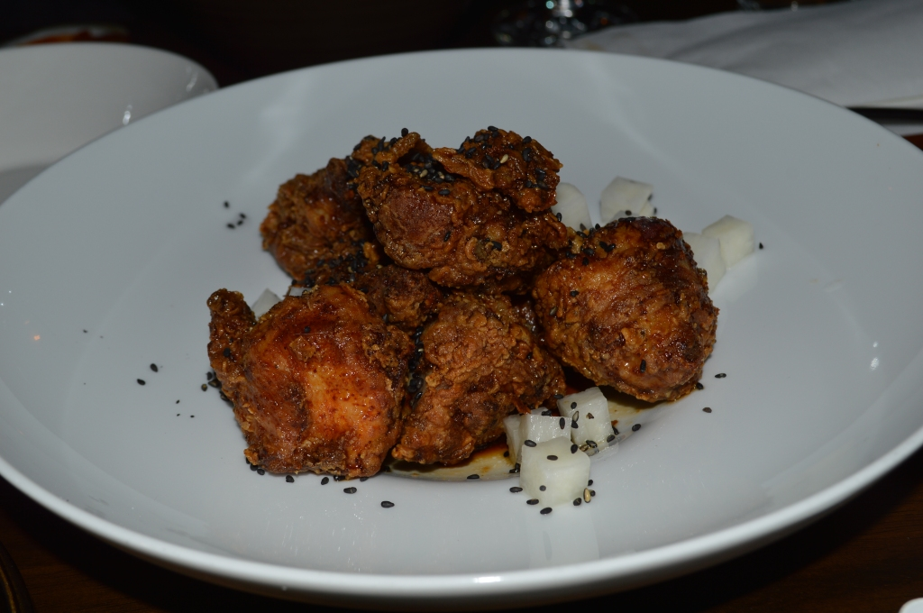 Shrimp Brined Fried Chicken with Soy and Syrup ($20)