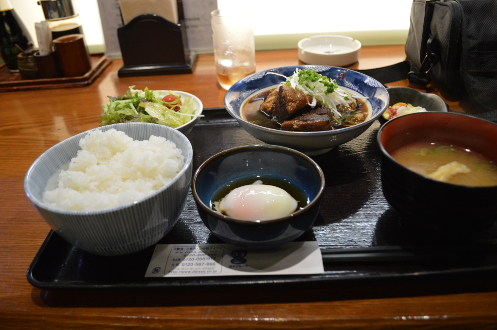 My first meal in Japan- a downstairs restaurant in Shibuya