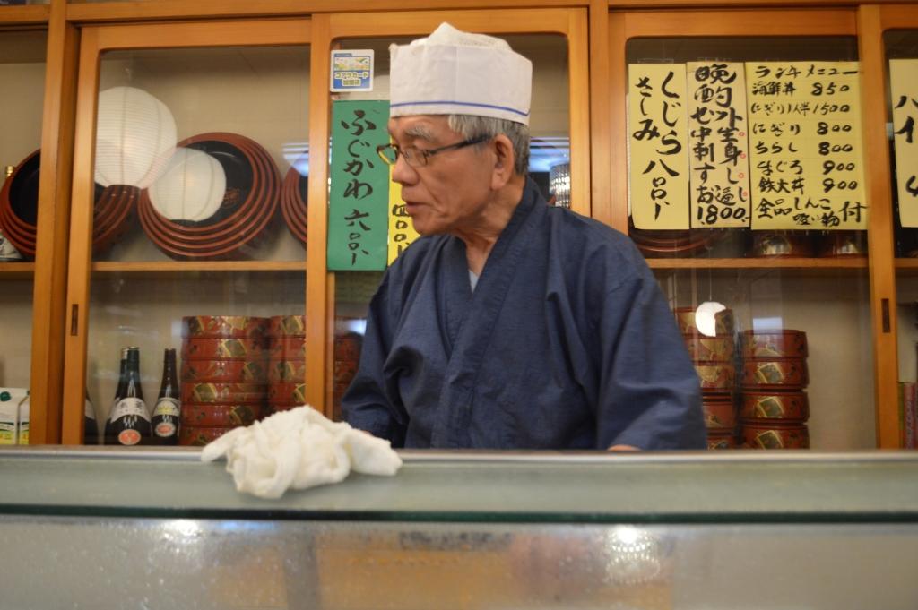 Sushi chef at Suni Zushi