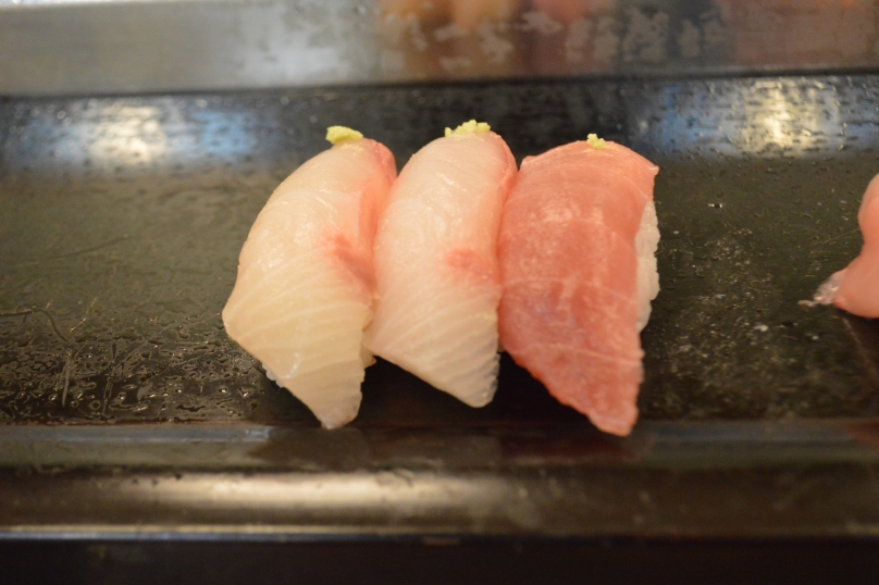 Hamachi and Maguro (Yellowtail and Tuna)