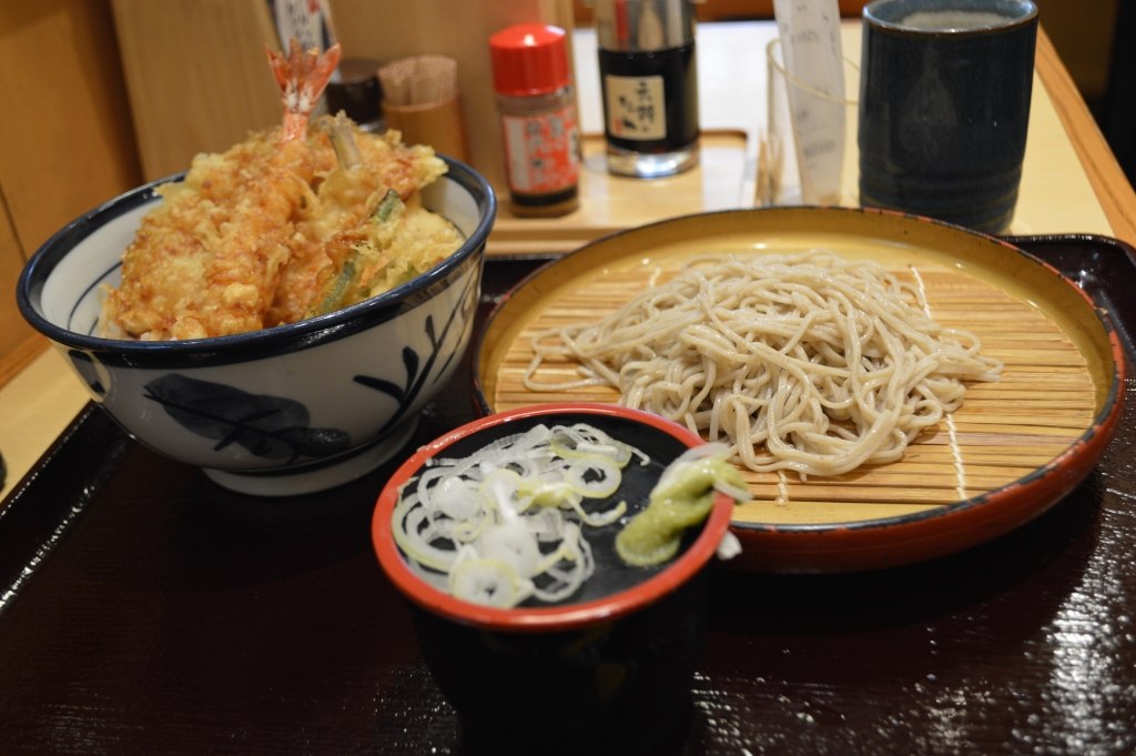 Small Tendon set meal with cold soba 770Y