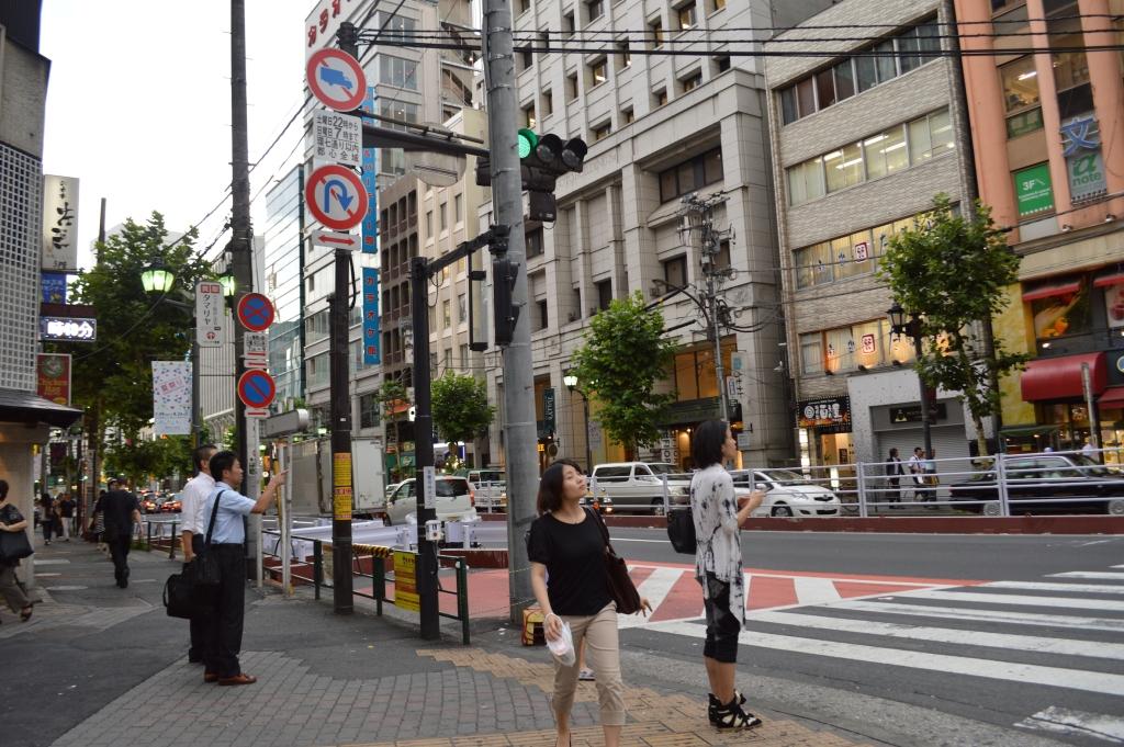 Outside of Roppongi station