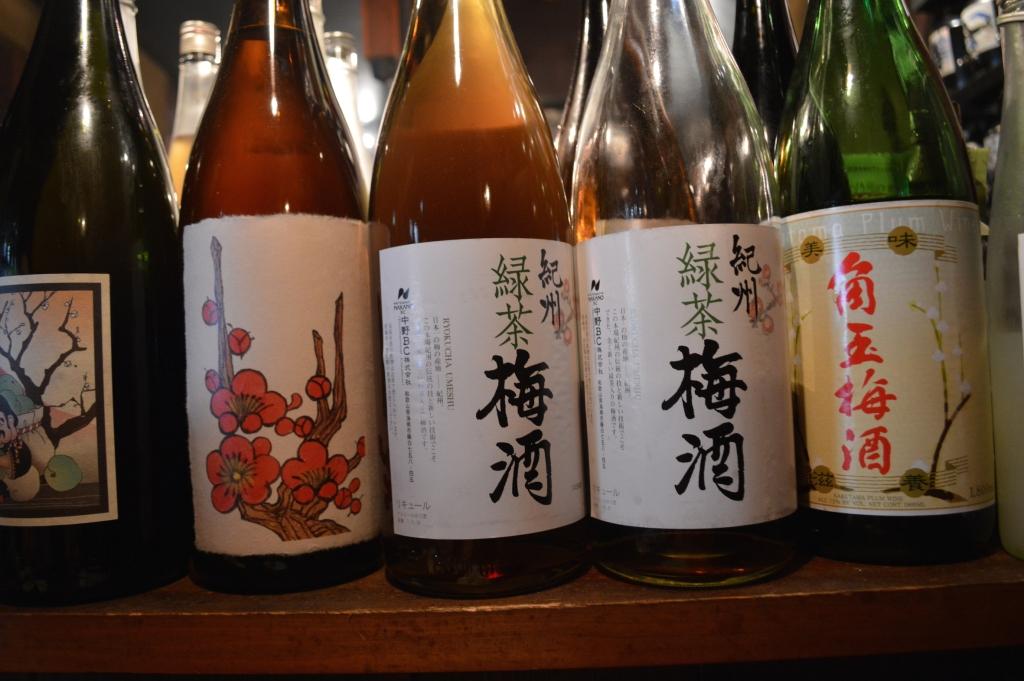 Range of Japanese shochu