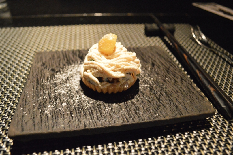 A vegetarian pastry that was substituted for A and J in place of a raw dish