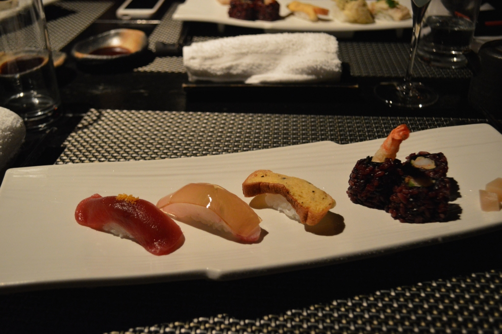 Tenth course: Special sushi and sushi roll