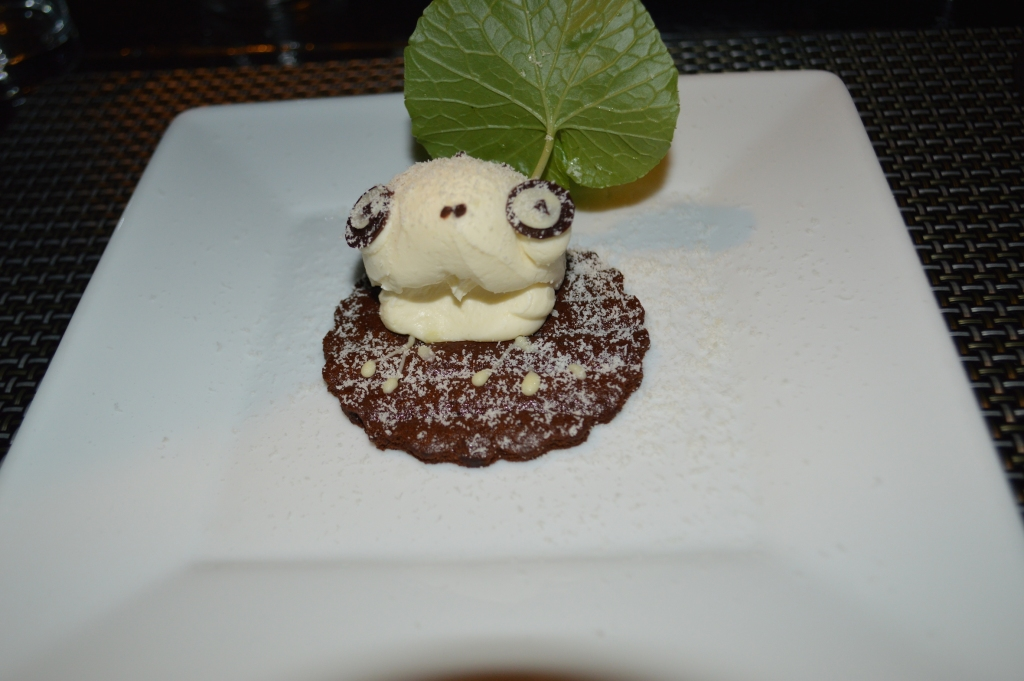 Eleventh course: Cheesecake frog