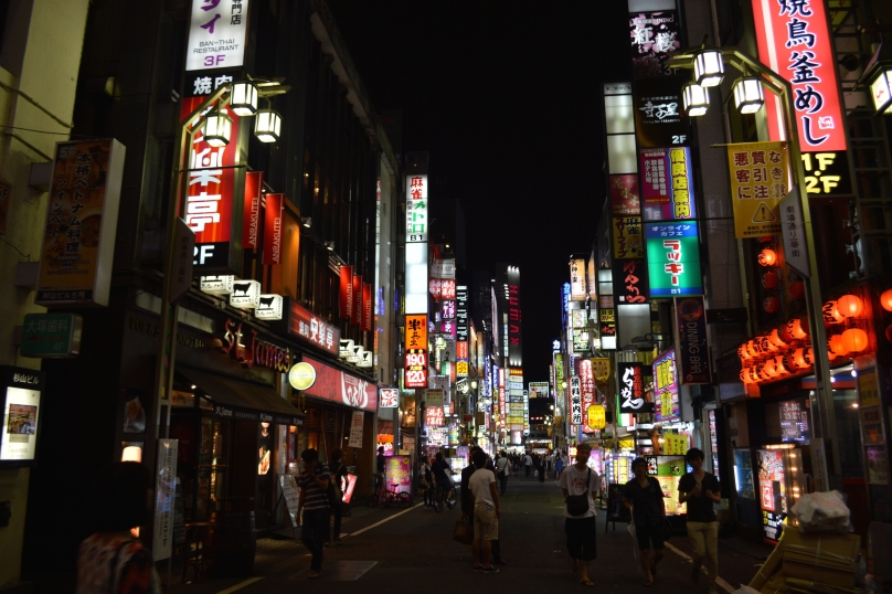 Bright lights of Shinjuku