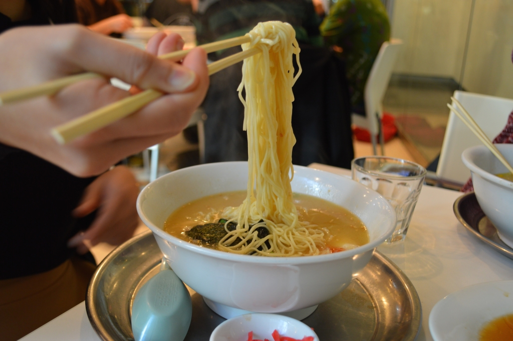 Tonkotsu Ramen noodles- stiff and white