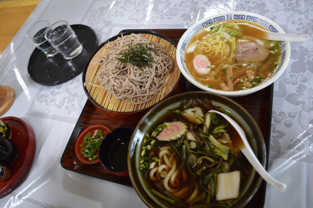 L-R Zaru Soba, Ramen, and Udon