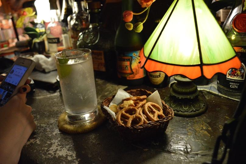 Complimentary bar snacks