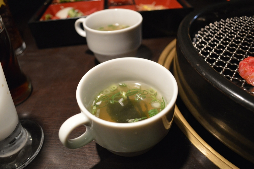 Miso soup served in mugs