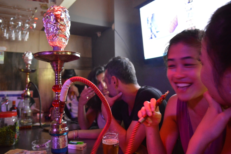 Shisha bar in Amerikamura, Osaka- the best bar we visited that evening