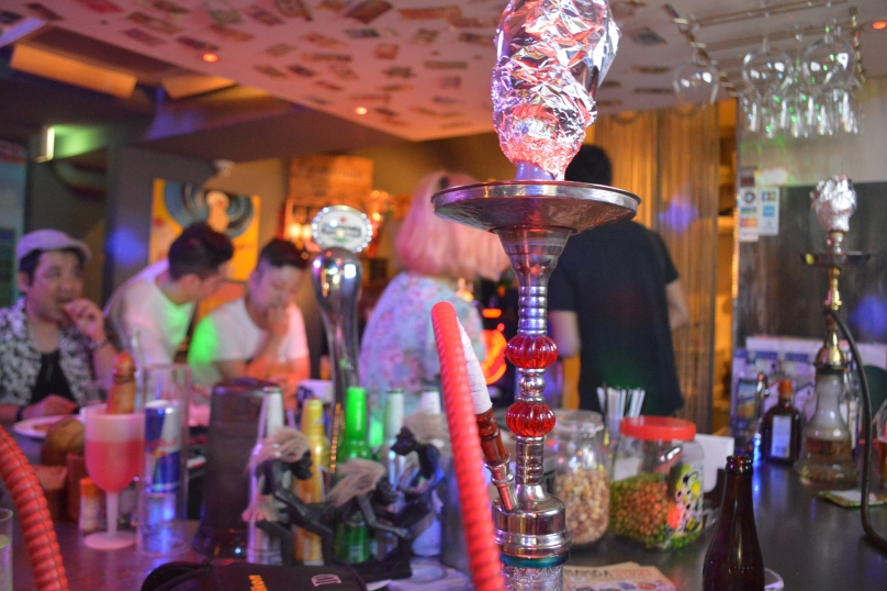 Inside the shisha bar