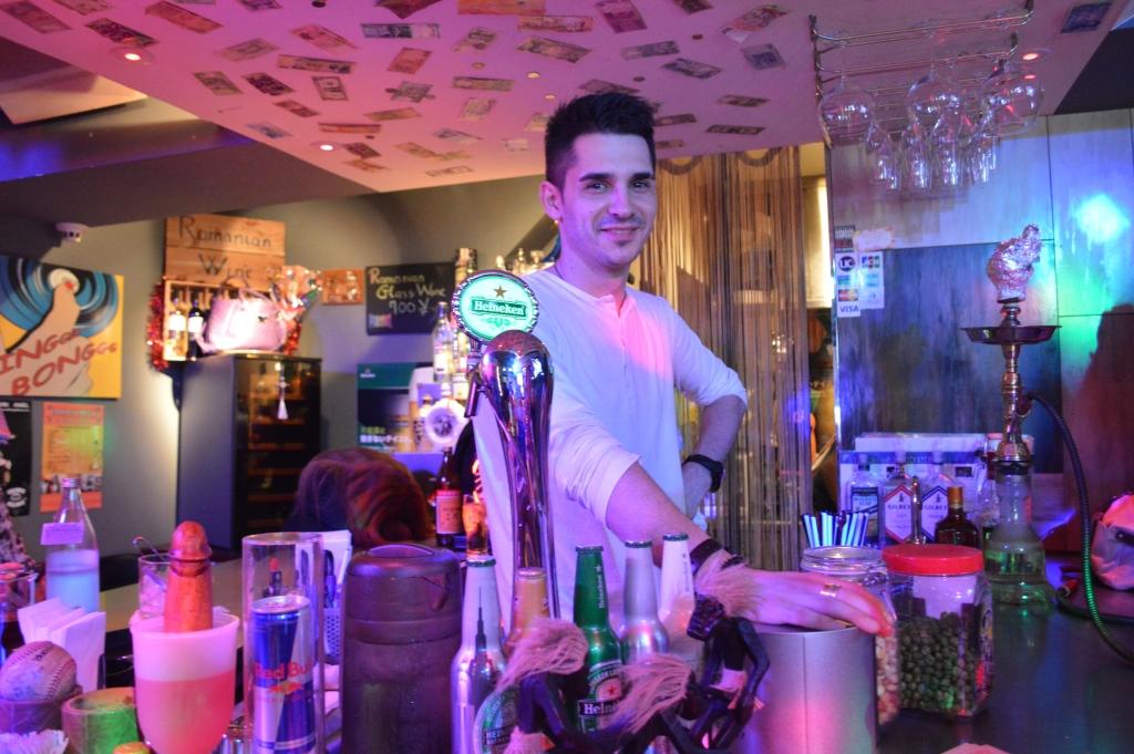 The cute Romanian bartender