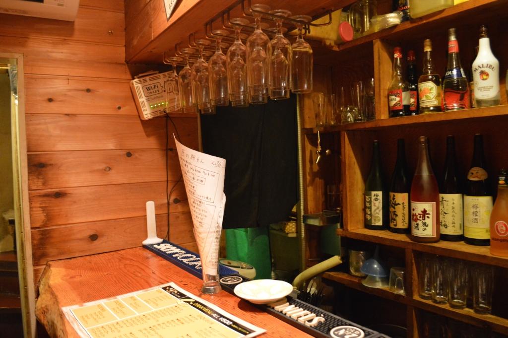 Interior of the takoyaki bar we ate at