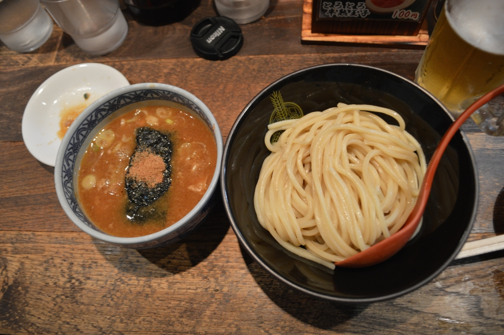 Tsukemen with non-spicy soup