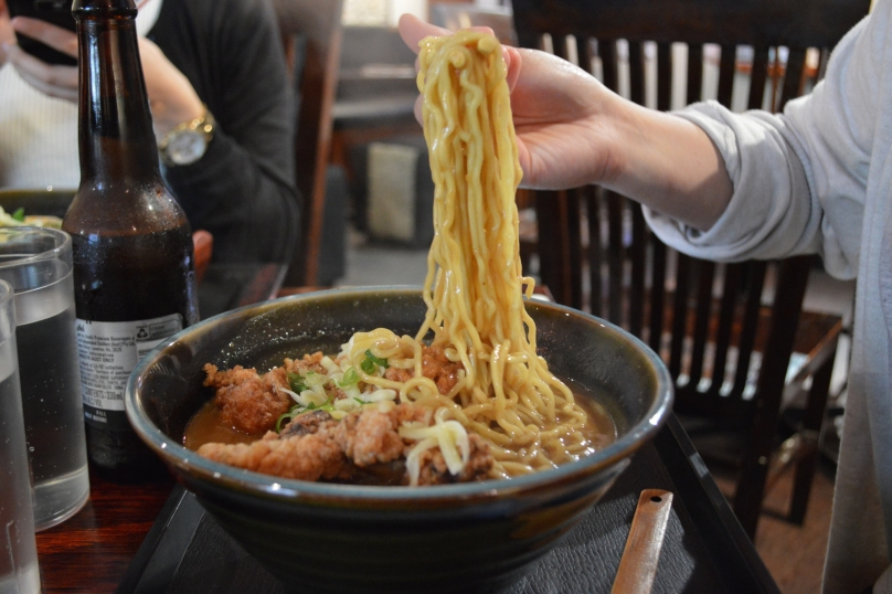 Noodles that came with the chicken karaage ramen