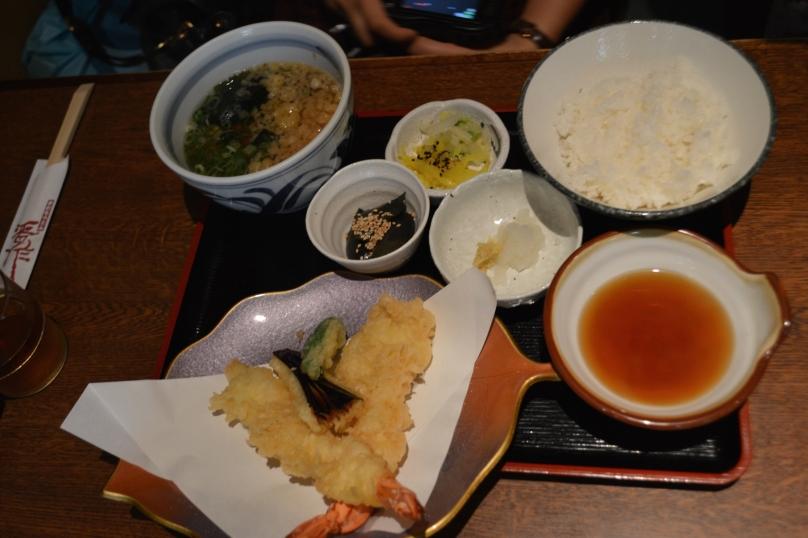 A's tempura and rice dish
