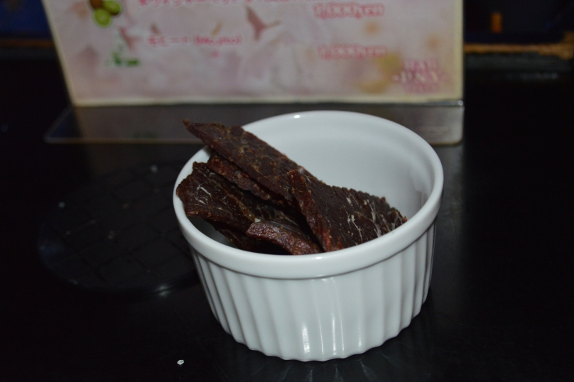 The beef jerky I barely got to eat