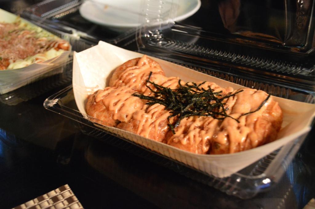 Takoyaki with mentaiko sauce