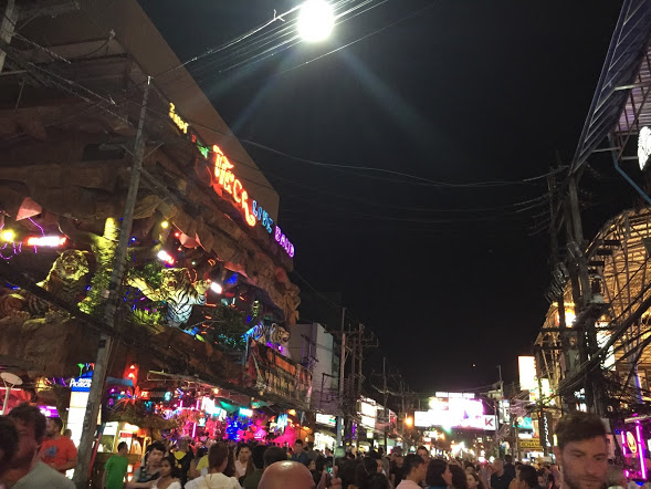 Patong- the busiest nightlife area I went to in Thailand