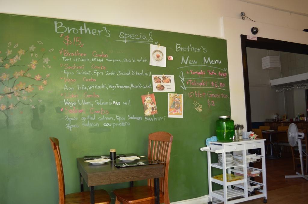 Specials written on the chalkboard