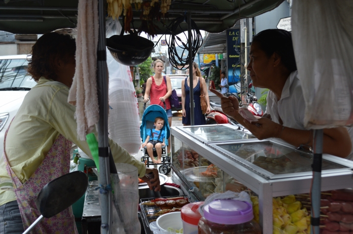 Street vendor from which I ate the best street food in Thailand