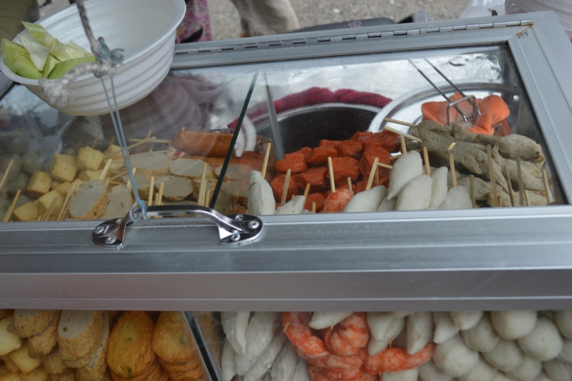 Skewers from street vendor in Fisherman's Bay