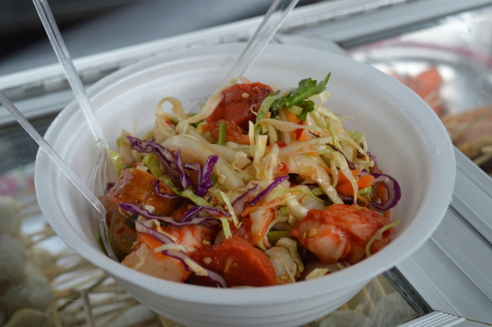 Salad with skewers for 70 baht