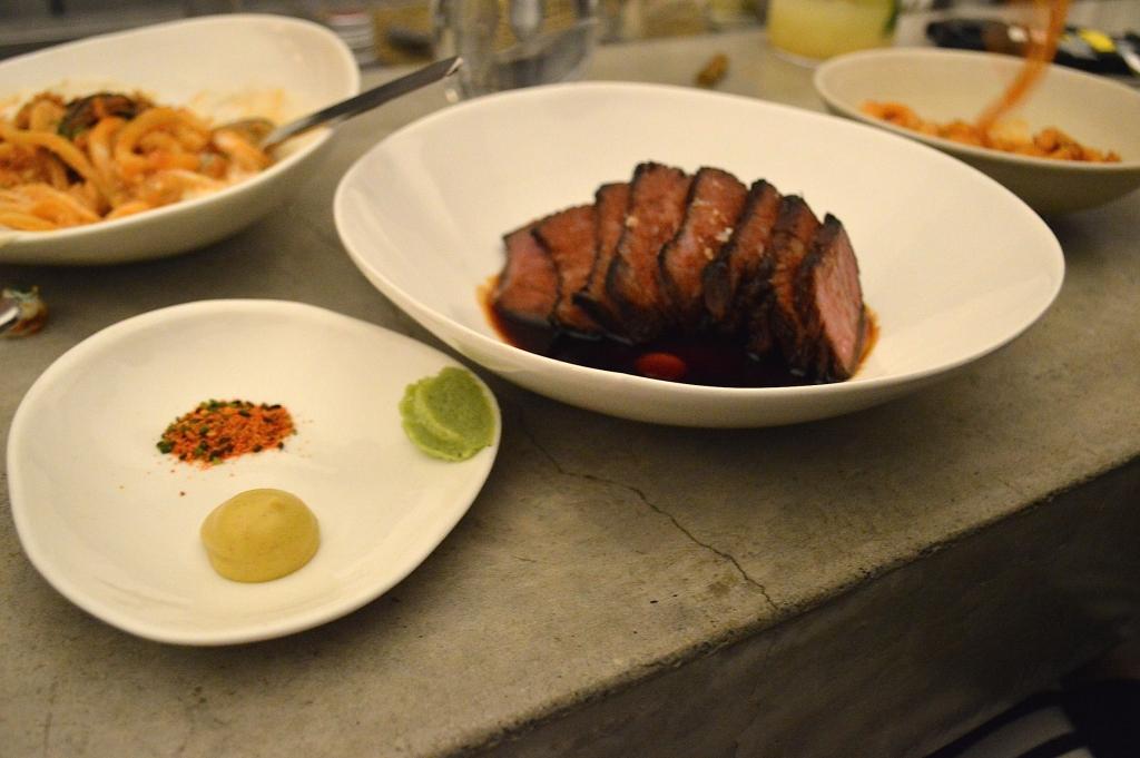 Soy glazed wagyu beef ($36)