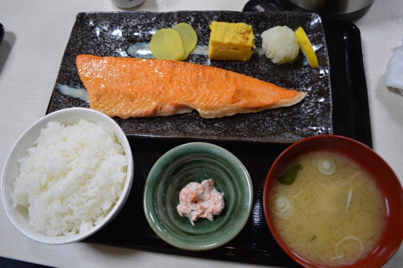 Salmon belly teishoku
