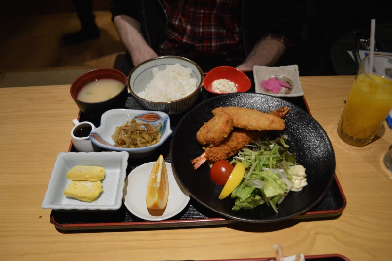 W's set meal for about 1000 yen