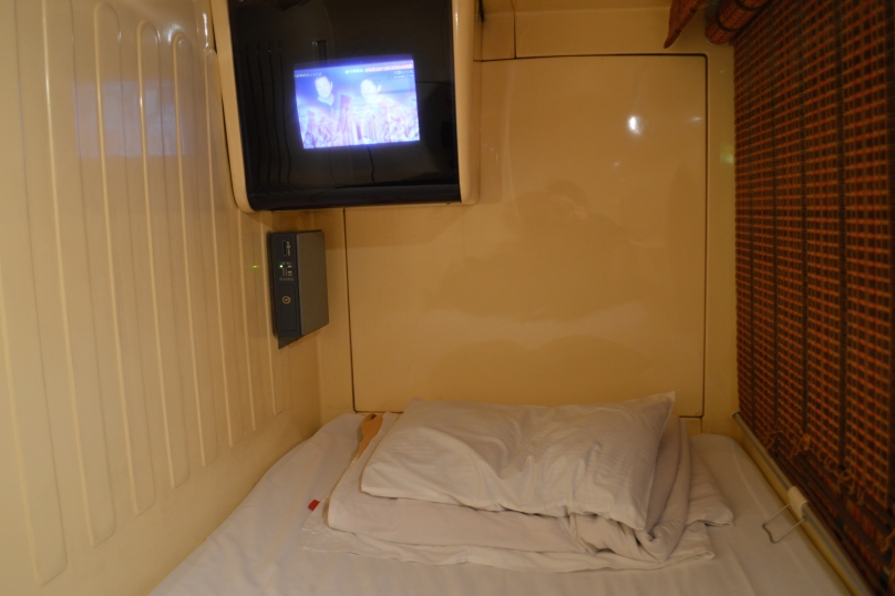 My first time sleeping in a capsule hotel