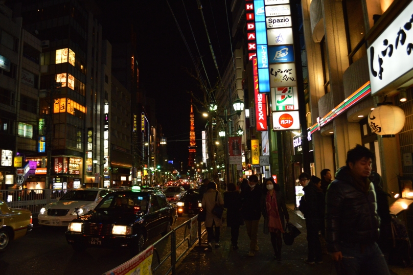Walking in downtown Roppongi- my favourite part of town and one of the main nightlife areas in Tokyo