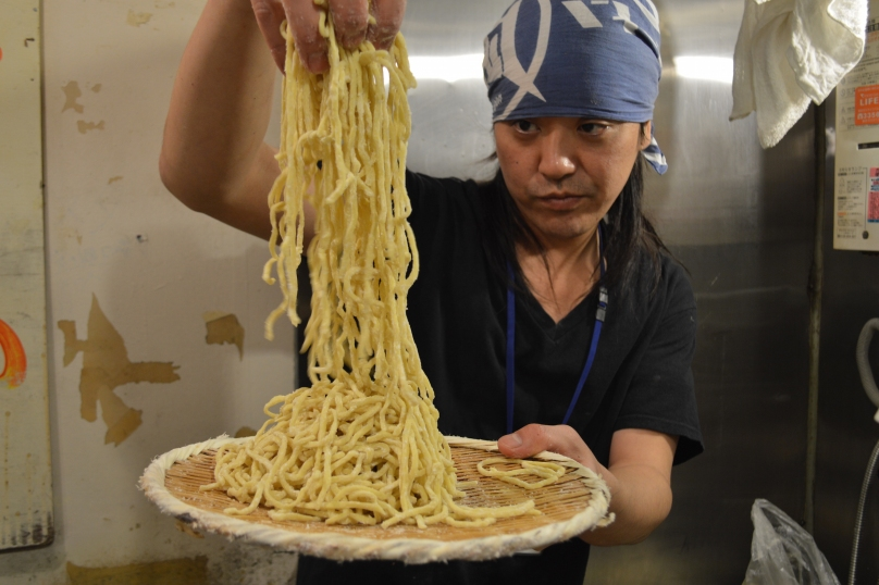 Freshly made noodles at Nagi