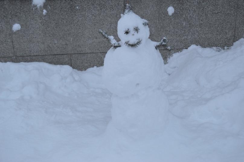Snowman in Otaru