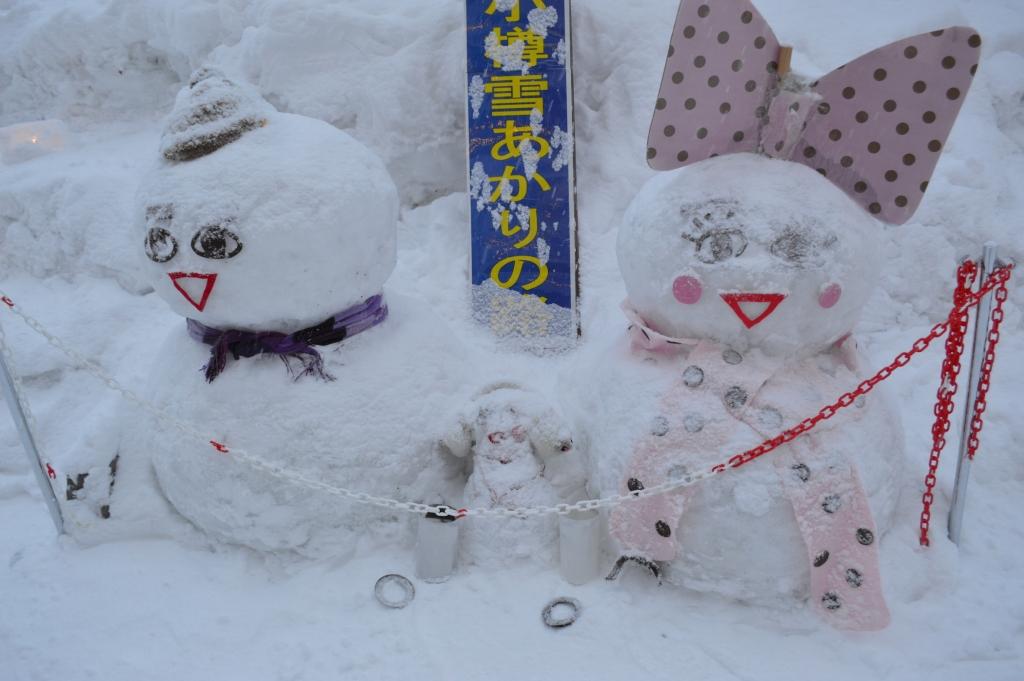 Otaru is a town full of snowmen (and women)