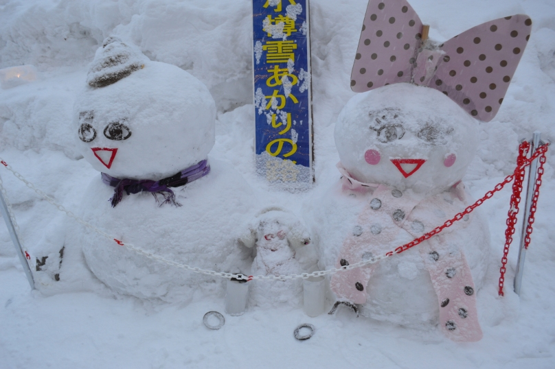 Otaru is a town full of snowmen (and women)