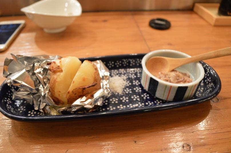 Salted Hokkaido potato butter grilled (as written on the menu) 480 yen