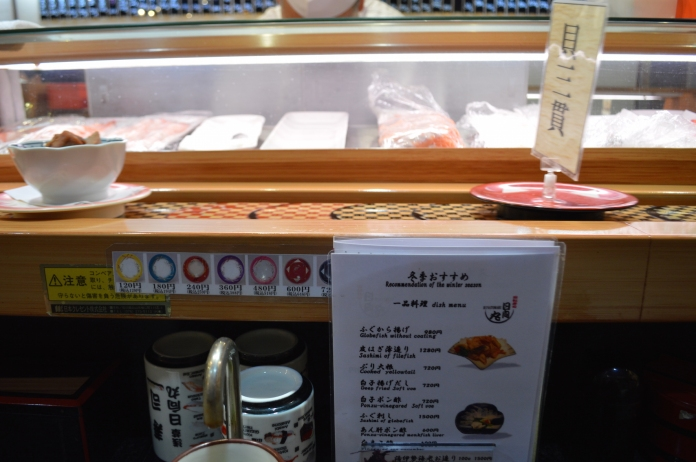 This kaiten-zushi had prices comparable to Sydney's sushi trains