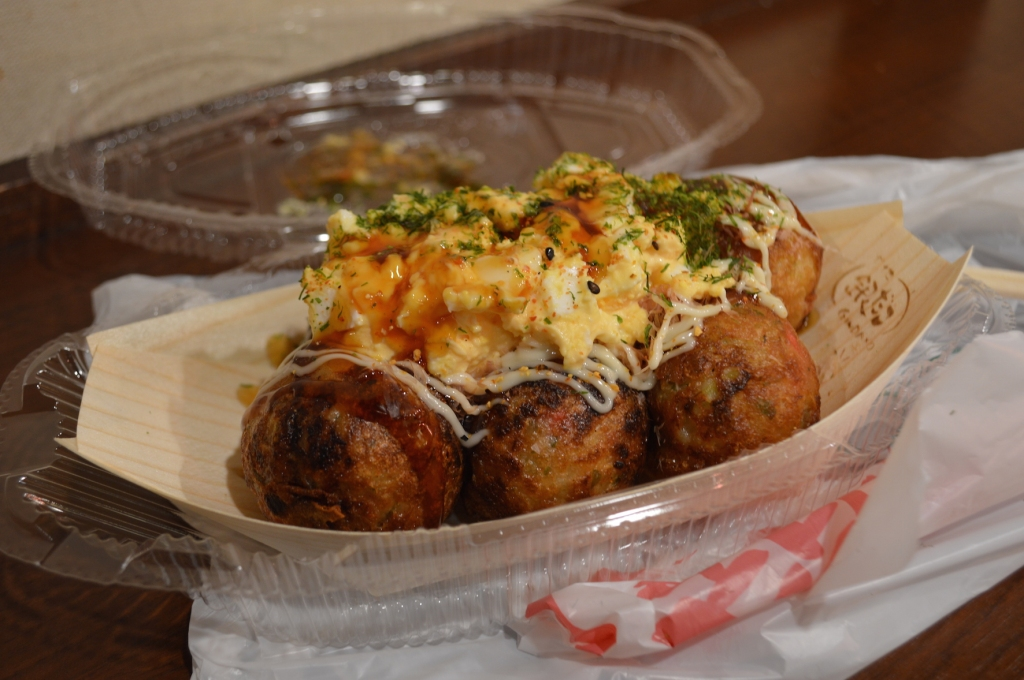 Takoyaki from a chain called Gindaco