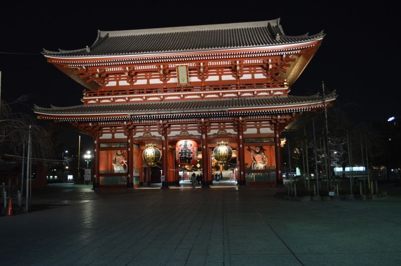 Senso-ji, a major tourist attraction in Asakusa