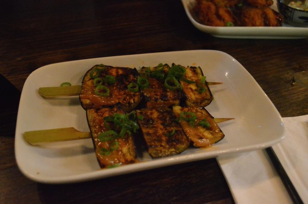 Eggplant and miso ($6)