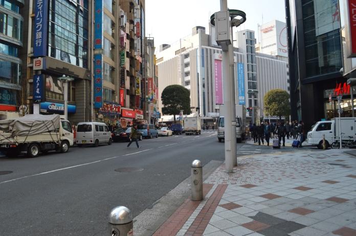 Walking in Shibuya