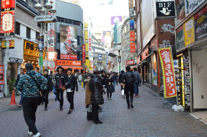 Walking in Shibuya