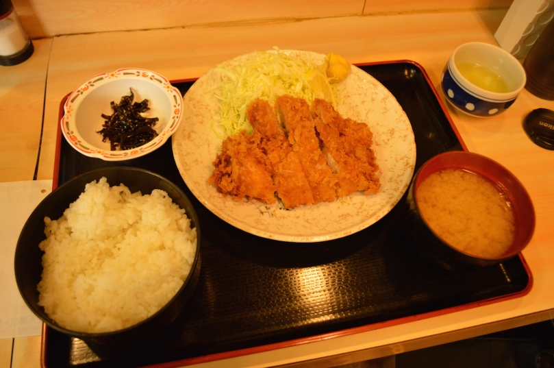 Tonkatsu for breakfast- this cost me around 800 yen