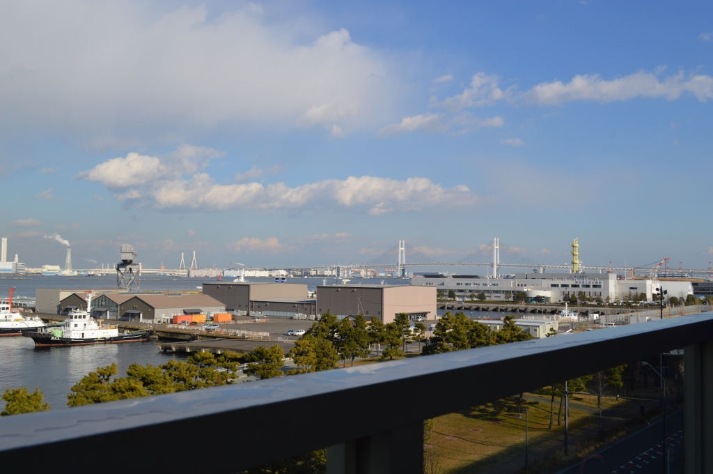 View from the balcony of the ramen cup museum