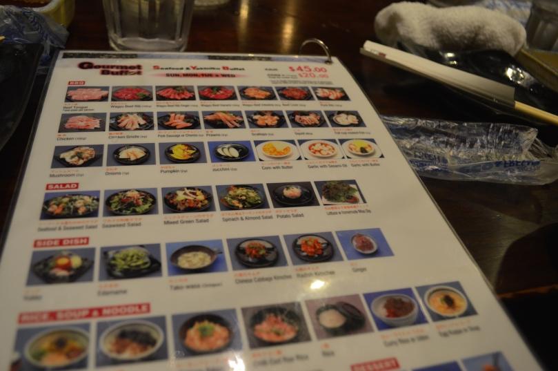 Suminoya's menu